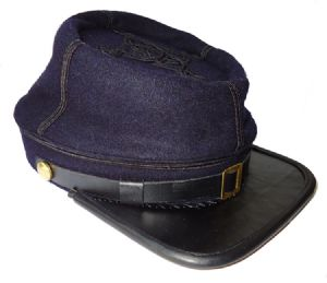 Union Captain's Blue Kepi [2 Lines Of Braid]